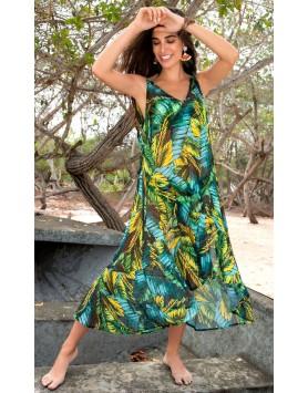Garotas 0562 летнее длинное пляжное платье