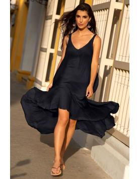 Garotas 0577 летнее длинное пляжное платье