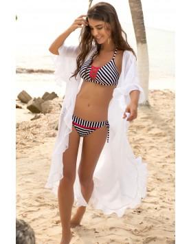 Garotas 0583 белая длинная стильная пляжная туника