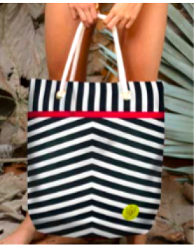 Garotas 6019 полосатая женская пляжная сумка