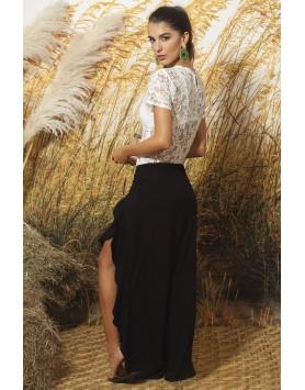 Garotas 0653 черные пляжные брюки