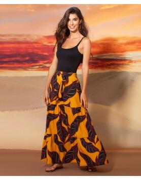 Garotas 0657 длинная пляжная юбка