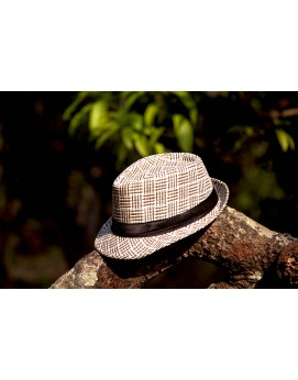 Hat White/Brown