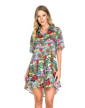 Maryssil 6002 пляжная рубашка блуза с принтом