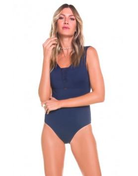 Maryssil 601121 слитный синий купальник боди