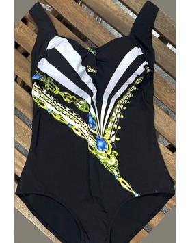 Yaffa 240-5543 черный слитный купальник